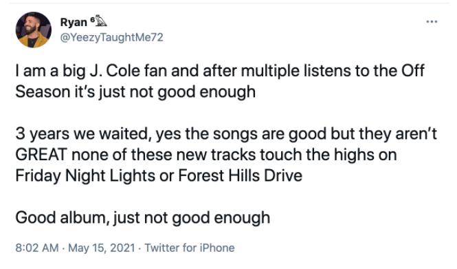 The off season album by j cole