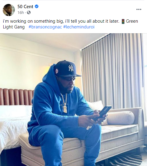 50 Cent hints on a new project says he is working on something big
