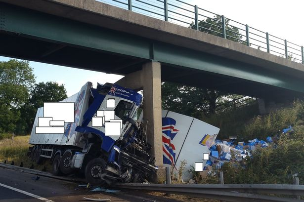 More pictures from M6 Accident scene photo covers and short clips